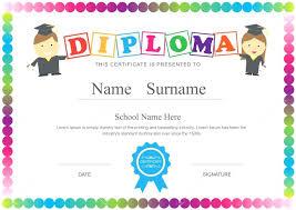 preschool diploma template preschool graduation diploma template certificate for