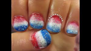 simple fourth of july nail tutorial wmusic youtube