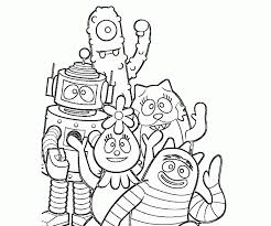 pictures yo gabba gabba characters coloring