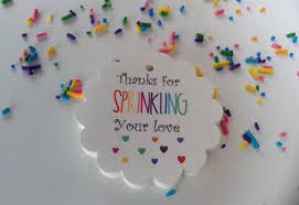 Thank You Baby Shower Gifts 25 Thanks For Sprinkling Your Love Gift Tags Baby Shower