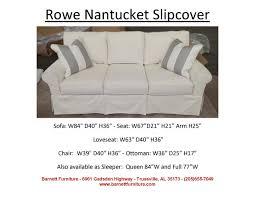 Rowe Ottoman Rowe Nantucket Slipcover Sofa You Choose The Fabric Slipcover