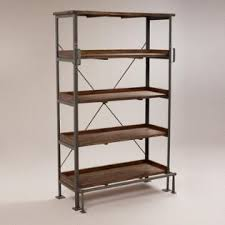 Walnut Ladder Bookcase Bookshelves Bookcases U0026 Ladder Bookshelves World Market