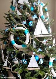 unique ways to decorate a nautical tree coastal