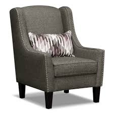 Oversized Accent Chairs Fashionable Gray Microfiber Upholstered Accent Chair For Living