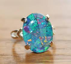 opal stones rings images Genuine australian opal ringmosaic opal ringsterling jpg