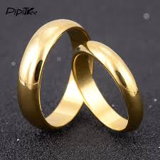 color rings images Simple engagement wedding couple rings lovers set gold color rings jpg