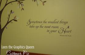 winnie the pooh quote wall decal sometimes the smallest zoom