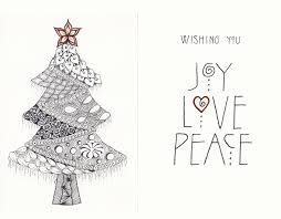 the new ramblings of a creative mind christmas card zentangle