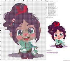 vanellope wreck ralph cross stitch pattern cross stitch