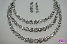 necklace with purple stone images Buy mesmerizing three line precious white cz stone necklace set jpg