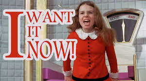 Willy Wonka Tell Me More Meme - julie dawn cole i want it now genius