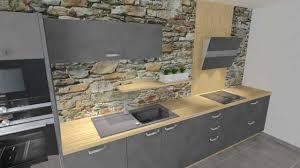 photo cuisine grise et plan de travail cuisine gris anthracite galerie avec grise bois