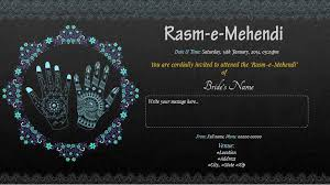 mehndi invitation cards free sangeet mehndi ceremony invitation card online
