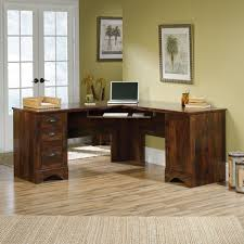 Corner Computer Desk With Drawers Harbor View Corner Computer Desk 420474 Sauder