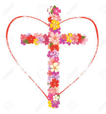 cross with flowers and royalty free cliparts vectors and