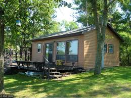 One Story Log Homes Minnesota Waterfront Property In Crosslake Whitefish Chain