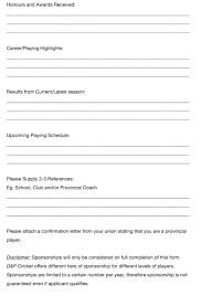 applying for sponsorship u2013 d u0026p cricket brand south africa