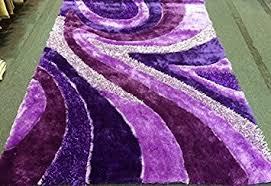 Dark Purple Area Rug Amazon Com Dark Purple Light Purple Shaggy Shag Area Rug 5 U0027x7