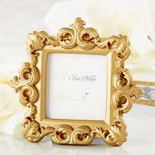 picture frame wedding favors gold baroque place frame gold theme wedding favors wedding