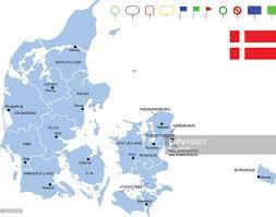 Map Of Denmark Map Of Denmark Vector Art Getty Images