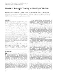 maximal strength testing in healthy children pdf download available