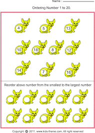 ordering numbers from the smallest number