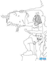 neanderthal man coloring pages hellokids com
