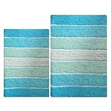 Aqua Bathroom Rugs Bacova Guild Portico Blue Bath Rug 20 X 30 Home