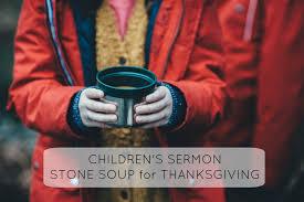 thanksgiving childrens church lesson soup