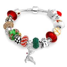 charm snake bracelet images Sterling christmas bead snake chain bracelet pandora compatible jpg