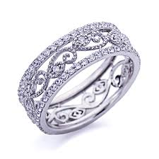 ring size 9 accent platinum plated sterling silver wedding ring
