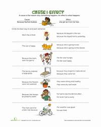 what is cause and effect comprehension worksheets worksheets