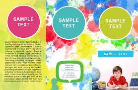 play school brochure templates brochures