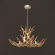 tree branch chandelier rustic tree branch chandeliers 3d model 3ds max files free