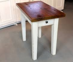 white wood end table custom rustic white end table by ecustomfinishes reclaimed wood
