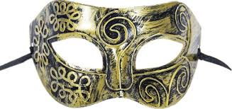 party mask gold carved ancient men s mask half venetian mask