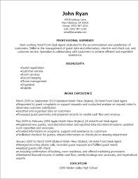 Hotel Resume Examples Professional Hotel Front Desk Agent Resume Templates To Showcase