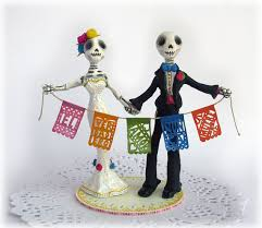 day of the dead wedding day of the dead wedding cake toppers
