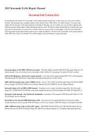 2015 kawasaki zx10r repair manual