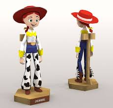 toy story jessie cowgirl papercraft