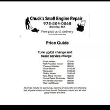 Auto Engine Repair Estimates by Chuck S Small Engine Repair Auto Repair Billerica Ma