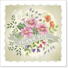 floral thank you card karenza paperie