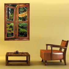 sticker trompe oeil stickers muraux trompe l u0027oeil jardin décoration murale fenêtre