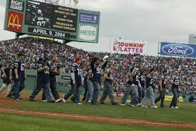 Fenway Park Seating Map Throwback Thursday Patriots Honored At Fenway Park New England