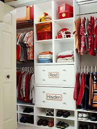 closet organization tips two kids one closet click pic for 36