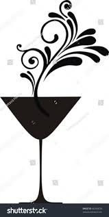 martini clipart no background stylized glass martini isolated on white stock vector 88264624