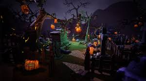 halloween 1920x1080 halloween cemetery set by 3dfancy in props ue4 marketplace