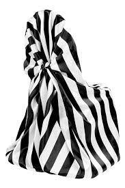 black and white chair covers stripe satin chair sash black white cv linens