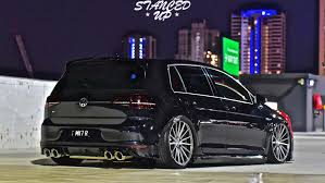 stanced volkswagen golf justin u0027s blacked out golf r stanced up
