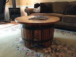 whiskey barrel side table wooden barrel coffee table preparing zoom keg barrel coffee table